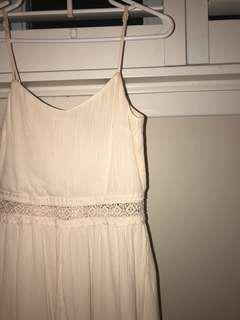 White Romper Dress XS/Size 2 h&m