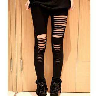 Celana Wanita Legging / Ripped Leggings