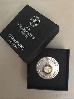 UEFA champions league coin , Inter Milan , Real Madrid  champion
