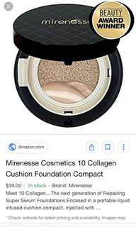 Mirenesss collagen cushion compact