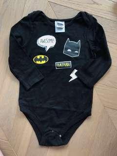 Batman baby bodysuit tee BB 蝙蝠俠長䄂連身衣衫