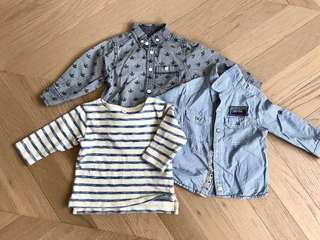Branded Baby boy shirt and top BB 恤衫上衣 ( mexx, Little rebel, muji)