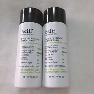 Belif Bergamot Herbal Extract Toner 佛手柑平衡保濕爽膚水 50ml
