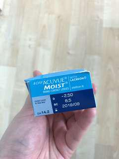 🚚 one day Acuvue Moist -2.50