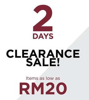 All as low as RM20!!