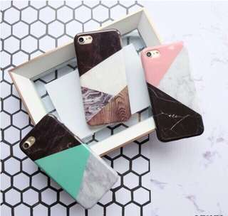 Triangle Marble Case - Full Cover For IPhone