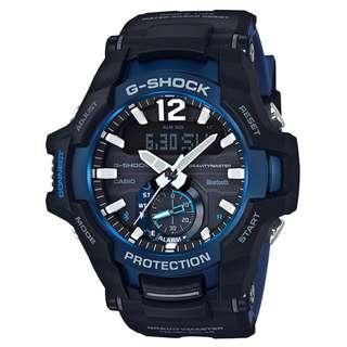 CASIO G-SHOCK GRAVITYMASTER series GR-B100 GR-B100-1A2 黑藍 BLUETOOTH 藍牙連線 GSHOCK GRB100