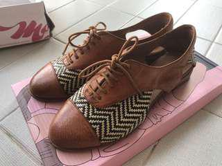 Jeffrey Campbell weave leather shoes