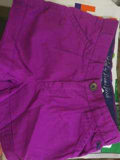H&M 童裝女童紫色左右有袋短褲 5-6 歲 120