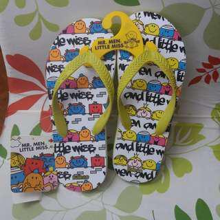 全新 Mr. Men Little Miss x Baleno 沙灘拖鞋 人字膠拖 beach flip-flops slipper sandals