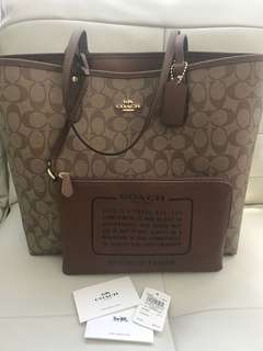 BNWT Authentic Coach Large Tote Bag