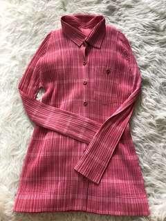 全新粉紅色pleats please Top