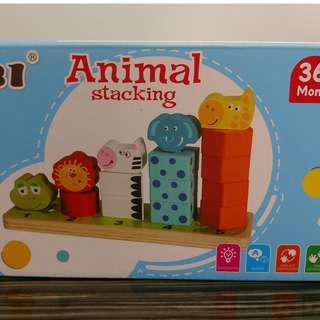 木製嬰幼兒玩具,學形狀、數目、顏色、動物