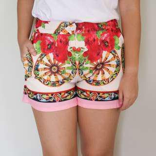 Dressy Floral Shorts