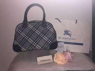 【BRAND NEW】☆RARE☆Auth Burberry London Blue Label Japan Boston Handbag