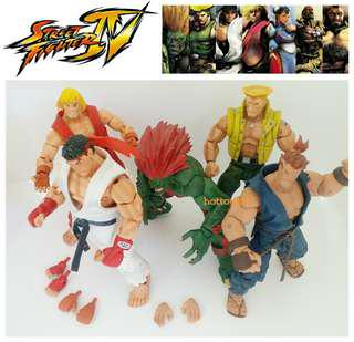 NECA STREET FIGHTER FIGURE 18CM SOTA TOYS KEN RYU AKUMA BLANKA GUILE ACTION FIGURE VINTAGE COLLECTIBLE SET
