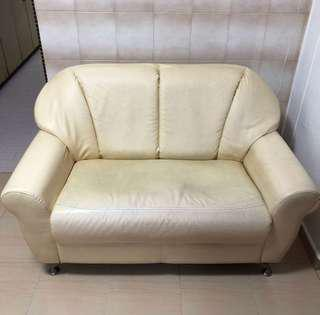 2 Seater Sofa Synthetic / Faux Leather