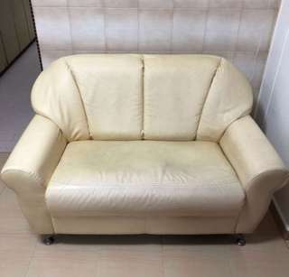 2 Seater Sofa Synthetic / Faux Leather Selling Cheap