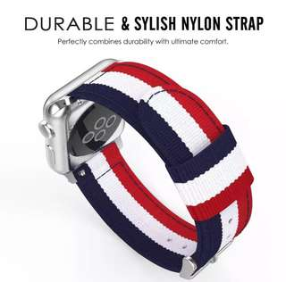 Nylon Adjustable Replacement Wristband Strap 42mm