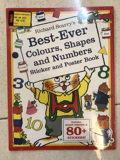 Best-Ever Colours, Shapes and Numbers Sticker and Poster Book