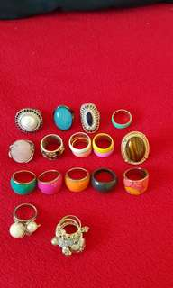 15 set of female rings