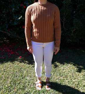 Tan fitted knit