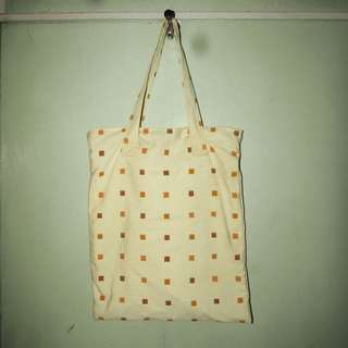 Yellow Patterned Tote Bag