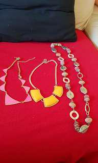 6 sets of colorful necklaces
