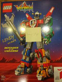Limited edition Voltron Lego with designer's signature