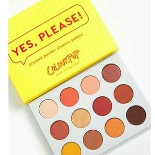 "Colourpop ""yes please"" Pressed Powder Shadow Palette 12色眼影盤 Colorpop"