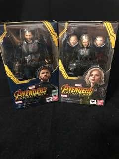 SH Figuarts SHF Marvel Avengers Infinity War Captain America + Black Widow
