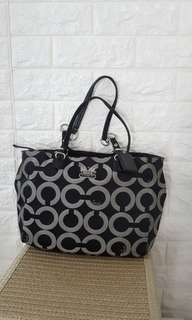 Auth Coach signature Tote Bag michael kors kate spade