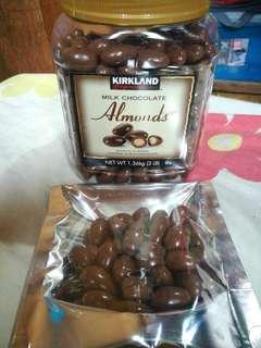 Kirkland Almond 40pcs in a pouch