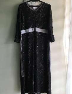 Black Lace Dress - Jubah Lace