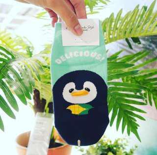 Pinguin Hijau Sock