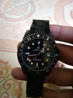 Jam rolex autometic  full black