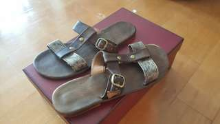 Handmade leather sandals size 38
