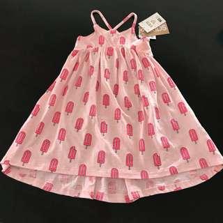 NWT Size 3 girls Cotton On Kids Aleta Dress Bubblegum Pink Icy Poles