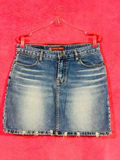 Capital Jeans Semi Tattered Denim Skirt