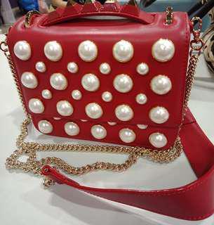 Priced to clear. SALAR Women Red Mini Handbag Exquisite Design
