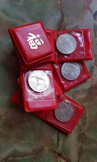 10 x Singapore Vintage $10 Silver Coin with folder