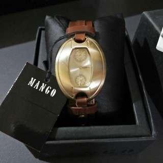 Mango leather watch😘