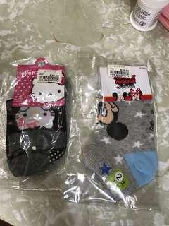 🆕YATA Hello Kitty 襪 米奇老鼠襪 共2對