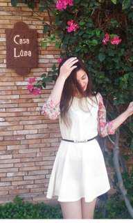 Floral Sheer Mini Dress