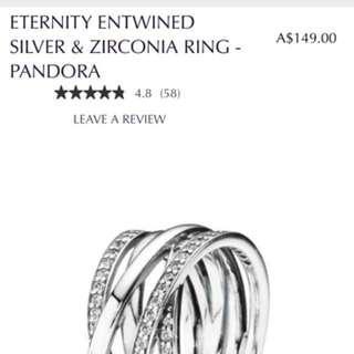 Eternity entwined Pandora ring