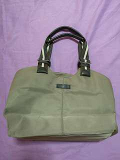Authentic Agnes B Voyage Bag in olive green