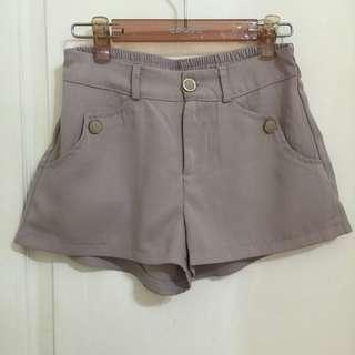 🚚 芋頭色棉質短褲(挺版)