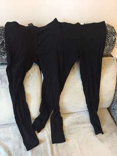 Forever21 黑色緊身褲legging tight cotton pencil pant