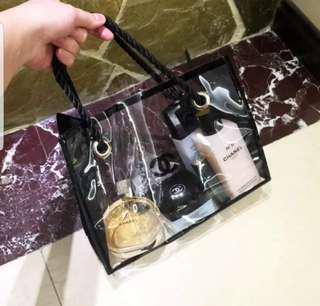 Chanel 專櫃贈品 小型防水 化妝袋