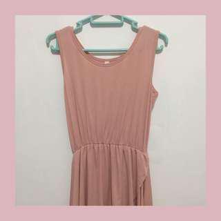 Salmon Pink Irregular Dress